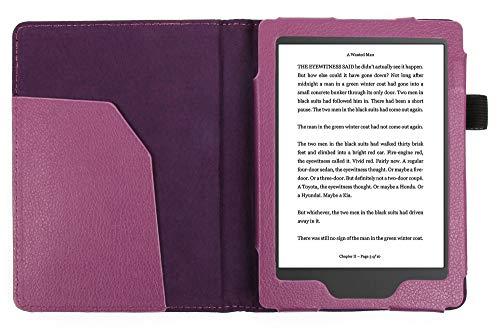 DURAGADGET`s Schutzhülle im Buch Stil aus Kunstleder - Maßanfertigung für KOBO GLO ebook Reader (VIOLETT)