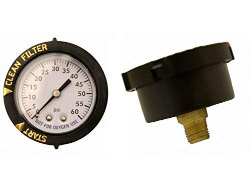 Super-Pro For Pentair 190059 Rear Mount Pressure Gauge Replacement Pool/Spa Valve and Filter