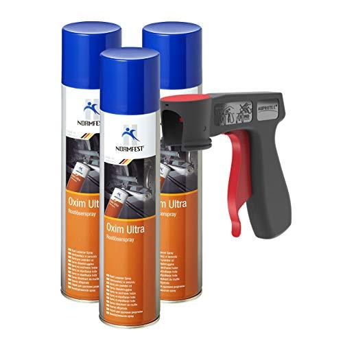 AUPROTEC Aktiv Rostlöser Spray Oxim Ultra Multifunktionsöl MoS2 3X 400ml + 1x Original Pistolengriff
