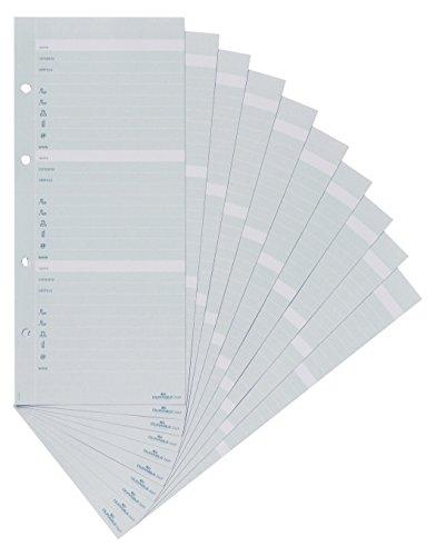 Durable 244910 Telefoneinlagesatz (für TelIndex und Visifix Plus) 10 Einlagen grau