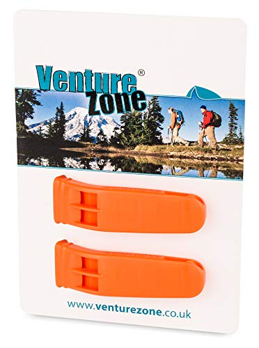 Silbato de seguridad naranja; pack doble
