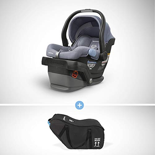 Review Of UPPAbaby MESA Infant Car Seat - Henry (Blue Marl) Wool Version + Travel Bag for MESA