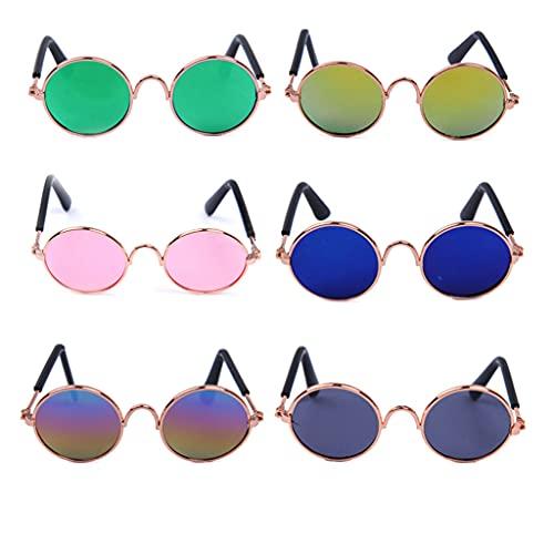 U-K Gafas para Mascotas Gafas para Gatos Tendencia Creativa Suministros para Mascotas para Perros Nuevas Gafas de Sol extrañas para Gatos Al Azar Un par Muy práctico y Popular Practical Design a