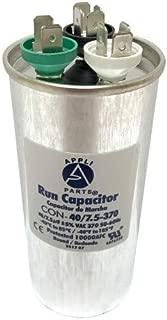 Appli Parts Dual Run Capacitor 40 + 7.5 Mfd uF (microfarads) 370 VAC Round CON-40/7.5-370-R