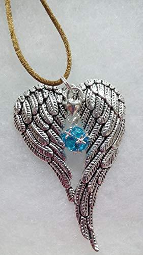 March Birthstone Angel Wings Memorial Ornament