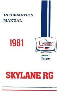 Cessna R182 Skylane RG 1981 Pilot's Information Manual (part# D1198-13)