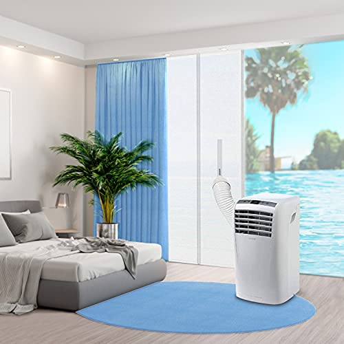 Türabdichtung für mobile Klimageräte, Klimaanlagen, Wäschetrockner, Ablufttrockner, 90x 210cm Hot Air Stop mit Reißverschluss-Türdichtung für tragbare Klimaanlage, Alternative zur Fensterabdichtung