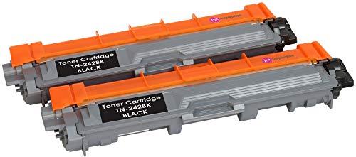 2 Schwarz Premium Toner kompatibel für Brother TN242 DCP-9015CDW DCP-9017CDW DCP-9022CDW HL-3142CW HL-3152CDW HL-3172CDW MFC-9142CDN MFC-9332CDW MFC-9342CDW | TN-242BK 2.500 Seiten