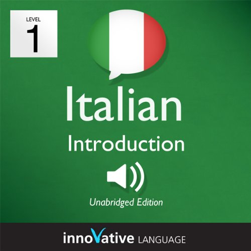Learn Italian - Level 1: Introduction to Italian, Volume 1: Lessons 1-25 audiobook cover art
