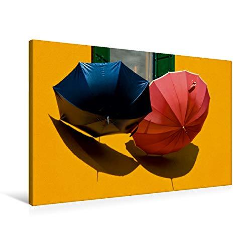 Premium Textil-Leinwand 90 x 60 cm Quer-Format Licht und Schatten in Italien | Wandbild, HD-Bild auf Keilrahmen, Fertigbild auf hochwertigem Vlies, Leinwanddruck von Gabriele Rechberger