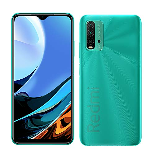 Xiaomi Redmi 9T Smartphone 4GB 64GB 48MP AI Quad Cámara 6000 mAh (typ) 18W Carga rapida 6.53' FHD+ Dot Drop Display Sensor de Huella Digital Lateral NFC Verde [Versión Global]