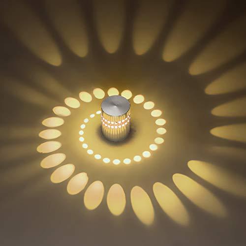 Deckenleuchte LED Wandleuchte Wandlampe Dimmbar Innen Wandlicht Flurlampe Spirale Effekt für Flur Schlafzimmer Balkon Wohnzimmer Badezimmer Treppen Korridor Lampe Deckenstrahler (Warmes Licht)