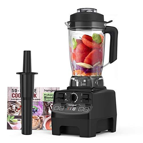 homgeek 2000W Frullatore Elettrico,Blender con 8 Velocità Regolabili e 4 Programmi Preimpostati per Frullato   Ghiaccio   Dessert   Zuppa,Boccale in Tritan, Senza BPA,33000 giri min