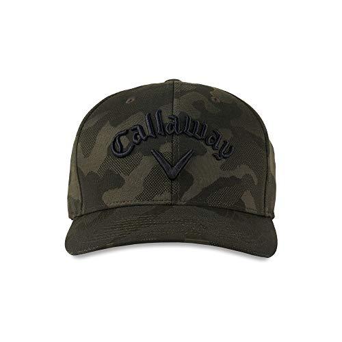 Callaway Golf Mens Rutherford Cap-Black-One Size, Golf Hat Uomo, Taglia unica
