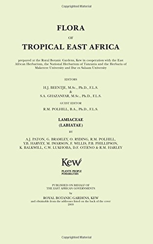 Flora of Tropical East Africa: Lamiaceae (Labiatae) (Royal Botanic Gardens, Kew-Flora of Tropical East Africa)