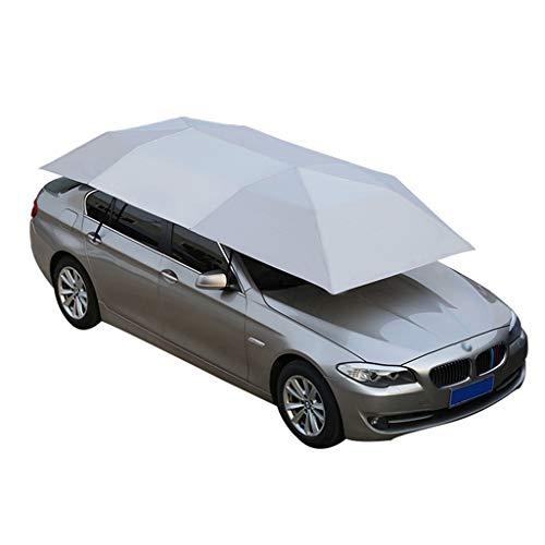 LLF Car Tent Umbrella,Semi-automatic Hot Summer Car Cover Portable Movable Carport Folded Automobile Protection Sun Shade Anti-UV Canopy Sunproof Shelters (Manual)