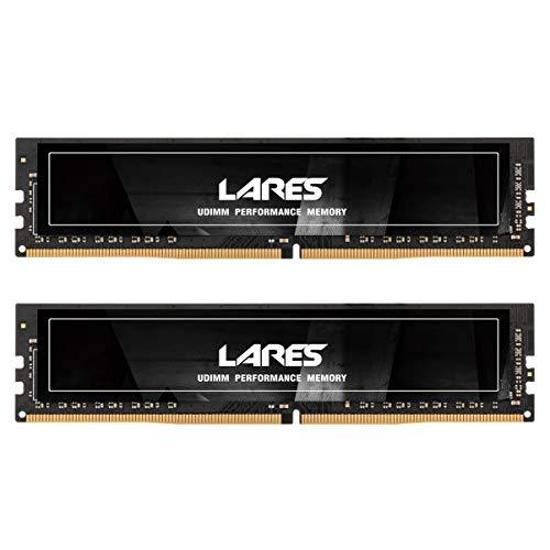 LEVEN DDR4 8GB KIT (4GB×2) 2666MHz PC4-21300 CL19 Unbuffered Non-ECC 1.2V UDIMM 288 Pin PC Computer Desktop Memory Module Ram Upgrade- Lares(JR4UL2666172408-4Mx2)