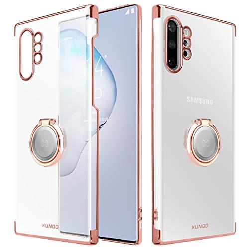 AICase XUNDD Funda para Galaxy Note 10 Plus,Carcasa de Cristal con Soporte magnético de 360 Grados,Soporte para Coche con imán para Samsung Galaxy Note 10 Plus (Oro Rosa)