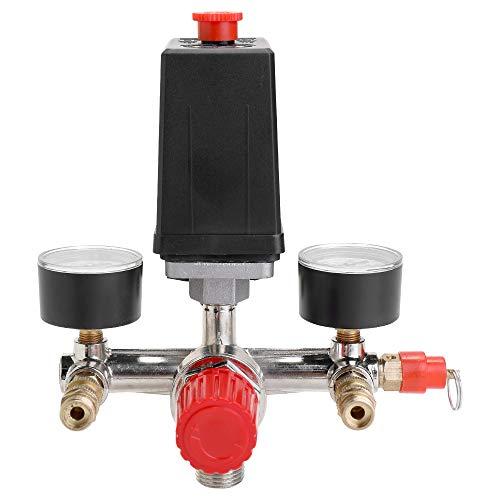 Festnight 125 PSI 12 Bar Piccolo compressore d'aria Pressostato Regolatore regolabile Strumento valvola