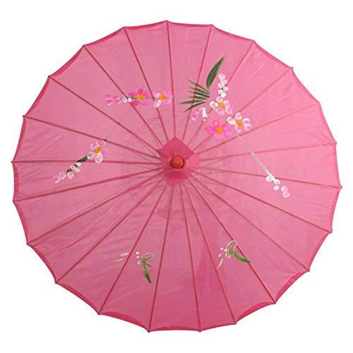ZGMMM Chinese lampenkap, decoratief, oliepapier, voor bruiloft, parasol, papieren scherm, decoratie voor vrouwen Wit