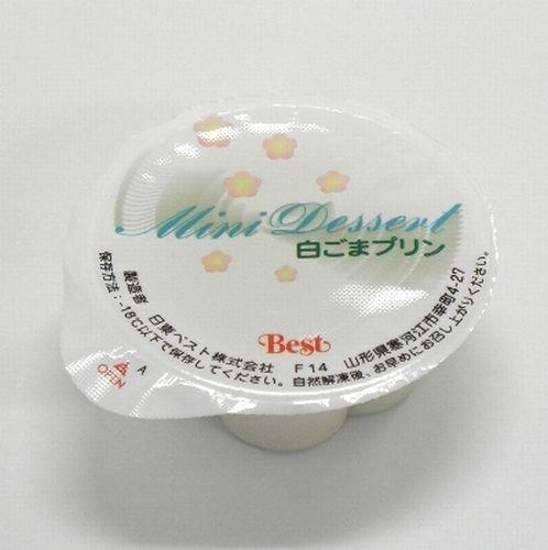 日東ベスト 冷凍 ミニデザート 白ごまプリン 30g×80個(40個入×2箱) 軽減税率対象