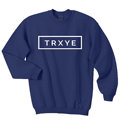 Pure Cotton Top Qualität TRXYE Sweatshirt Troye Sivan Happy Little Pille Jumper Gr. Small, Navy