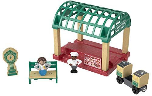Thomas & Friends FKF49 Holz Knapford Bahnhof-Set, Thomas die Lokomotive, Holzspielzeugeisenbahn, 3 Jahre alt