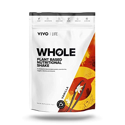 Vivo Life Whole – Vegan Plant-Based Nutritional Shake – Protein, Essential Fats, Vitamins & Minerals – 25 Servings (Vanilla)