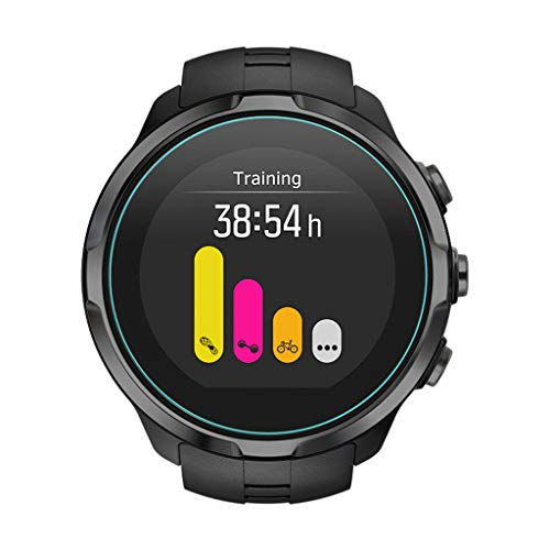 Shan-S 5PCS Clear Ultra Film Tempered Glass Screen Protector for SUUNTO 9 Smart Watch [9H Hardness] [Anti-Fingerprint] [Bubble Free] [Built-in Anti-Shatter Film ] 4