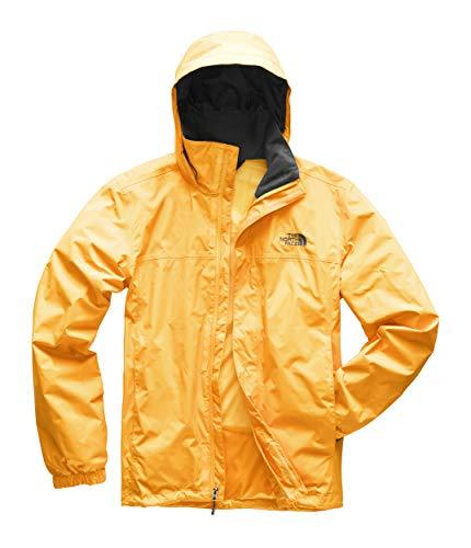 The North Face Men's Resolve Jacket, TNF Yellow/Asphalt Grey, Medium