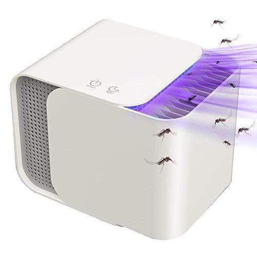 BAKAJI Zanzariera Elettrica con Ventola Aspirante Luce UV LED e Attrattivo Zanzare Eletroinsetticida Casa Design Moderno Anti Zanzare Mosche Insetti Potenza 12W Dimensione 15 x 20 cm