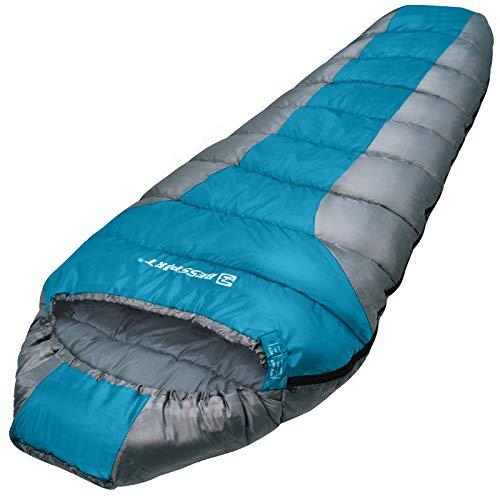 Bessport Saco de Dormir para Acampar para Adultos, 11 Estaciones Saco de Dormir de Momia cálido y cómodo para Trekking, Senderismo, Actividades al Aire Libre