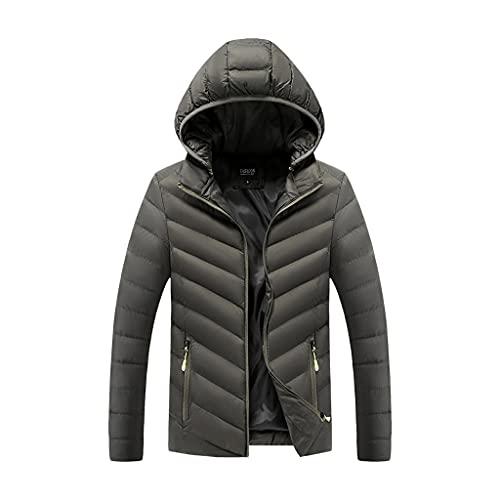 SCDZS Abrigos de cuello con capucha para hombre ultraligero para otoño e invierno chaquetas cortavientos (color: B, tamaño: XL)