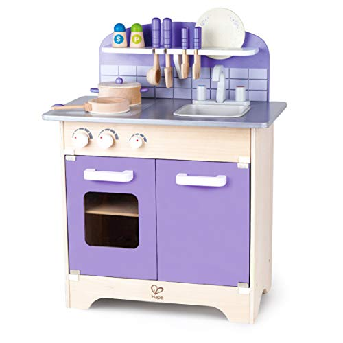USA Toyz Hape Play Kitchen for Toddlers - Kids Kitchen Playsets for Pretend Play, Wooden Toys Kitchen Playset w/ 13 Toy Kitchen Accessories