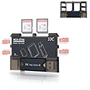 Micro SD Card Holder and SD Card Case, Memory Card Storage Organizer with USB Reader (Type C USB 3.0 Micro USB 2.0) for Micro SD, Micro SDHC, Micro SDXC,SD, SDHC, SDXC, MMC, RS MMC Card