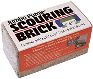 US Pumice JPS-12 Jumbo Pumie Scouring Brick, For Large Surface Cleaning, Removes Lime, Scale, Rust, Calcium - Pool Pumice Stone Tile Cleaner, Barbecue Cleaning Stone, Hand Safe, Pack of 12