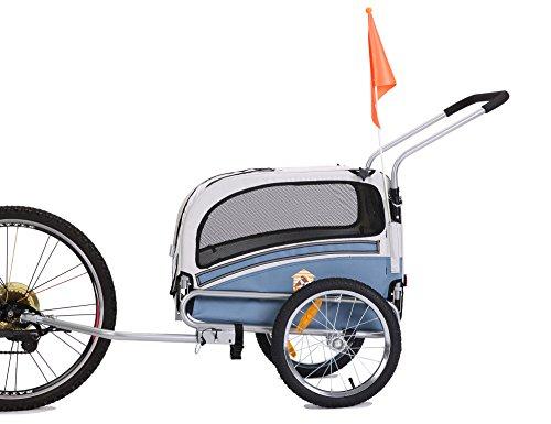 LEONPETS *2018 Sommerangebote Haustier Transportwagen/Anhänger für Jogger und Fahrrad 20303 (BLAU)