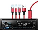 Pioneer MVH-X390BT Digital Media Receiver with Pioneer ARC app, MIXTRAX, Built-in Bluetooth and USB Direct Control for iPod/iPhone and Android Phones & zonoz 3 in 1 Multi USB Charging Cable (Bundle)