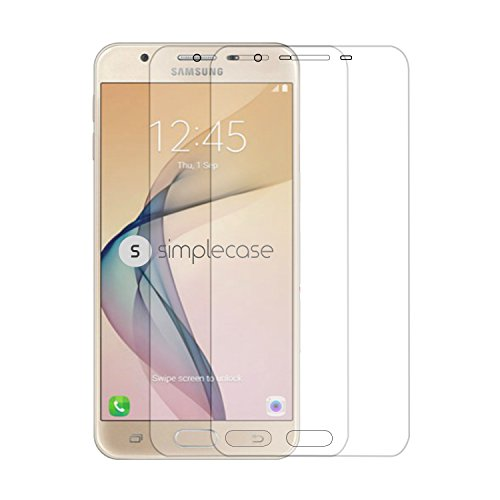 Simplecase Panzerglas passend zu Samsung Galaxy J7 (2017) , Premium Bildschirmschutz , Schutz durch Extra Festigkeitgrad 9H , Hülle Friendly , Echtglas / Verb&glas / Panzerglasfolie , Transparent - 2 Stück