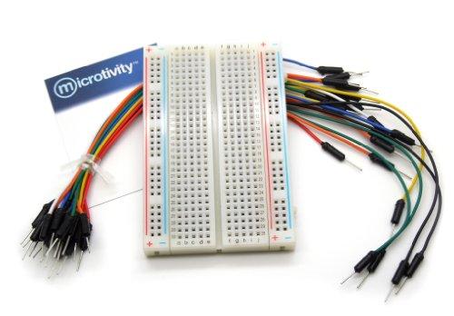 microtivity IB401 400-point Experiment Breadboard w/Jumper Wires