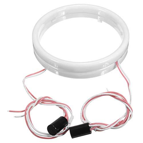 Paire de phares LED blancs en coton pour moto et voiture 12 V 60/70/80/90/100/110/120 mm