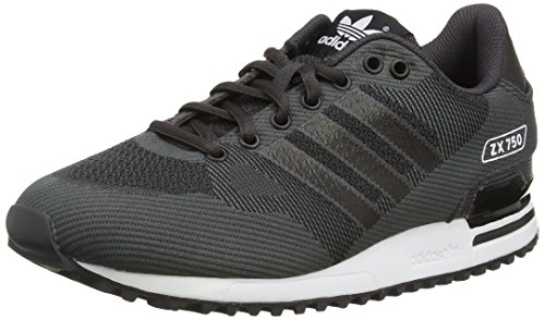Adidas Zx 750 Wv Scarpe Low-Top, Uomo, Nero (Black (Shadow Black S16/St/Core Black/Ftwr White)), 41 1/3 EU