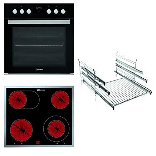 Bauknecht HEKO P500 Herd-Kochfeld-Kombination/Glaskeramik-Kochfeld (60 cm)/ Pyrolyse-Selbstreinigungssystem/Slow Cooking/Backauszug mit 2 Ebenen, 859800008022