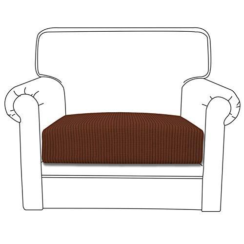 Funda de cojín elástica Easy-Going para sofá o sofá, funda para sofá y sofá, suave flexibilidad con parte inferior elástica (cojín de silla, café)