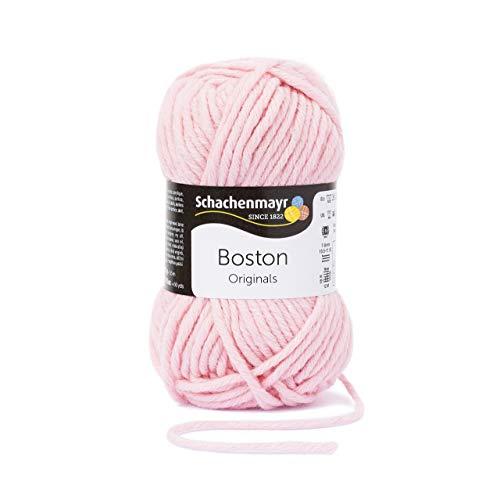 Schachenmayr Boston 9807412gomitolo per lavori a Maglia, Lana, Rosa 2, 15 x 8 x 8 cm