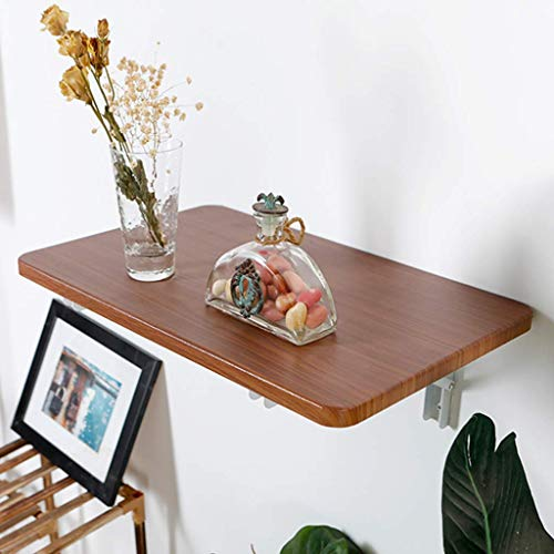 WYN Wall-mounted Drop-leaf Table, Computer Table Desk kitchen Dining Table Study Table Double Support Side Table (Size : 80 * 41cm/31 * 16in)