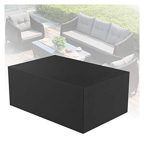 ASPZQ Cubiertas para Muebles de Patio Impermeable Mueble para Exteriores Salón Porche Fundas Sofá Resistente Al Desgarro Protector A Prueba Polvo (Color : Negro, Size : 242x162x100cm)
