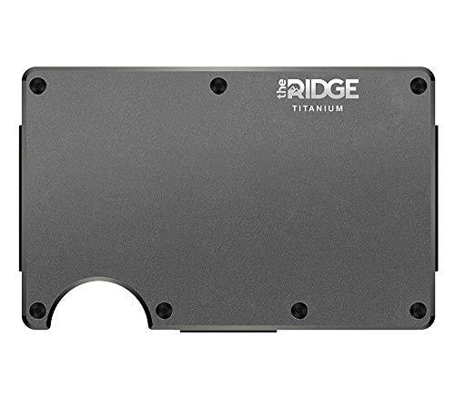 The Ridge Wallet Titanium Gunmetal Money Clip Geldklammer Geldbörse RFID sicher