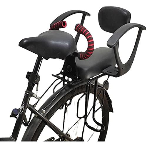LWLCY Asiento Infantil para Bicicleta, Asiento De Bicicleta Infantil De Seguridad Sillas De Bicicletas Sillín, con Pedal y Mango, Valla, Respaldo, para Niños De 2 a 10 Años, hasta 50 Kg