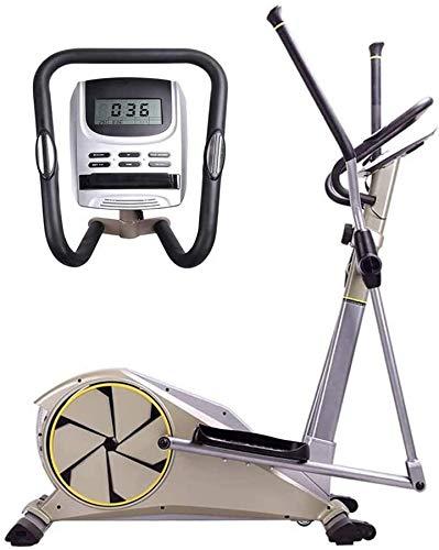 Wghz Máquina elíptica, LCD multifunción para el hogar, Control magnético bidireccional, Equipo de Fitness silencioso, Ajustable de 8 velocidades, Bicicleta estática, para Uso de Hombres y Mujeres